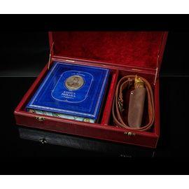 Подарочный набор «Рыбак»: книга с расписным обрезом, нож, ремень, короб