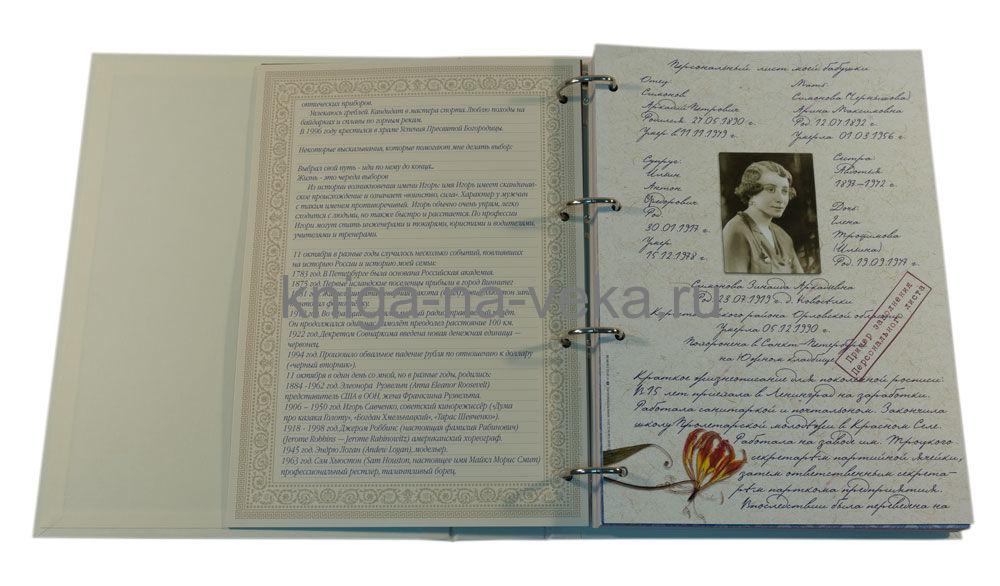 "Родословная книга ""Праздничная"" (зелёная)"