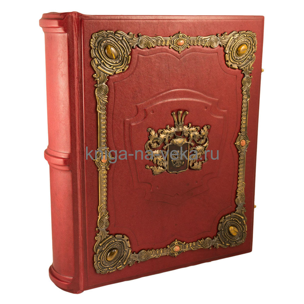 Родословная книга «Ювелирная Модерн» с накладкой в виде герба в ларце