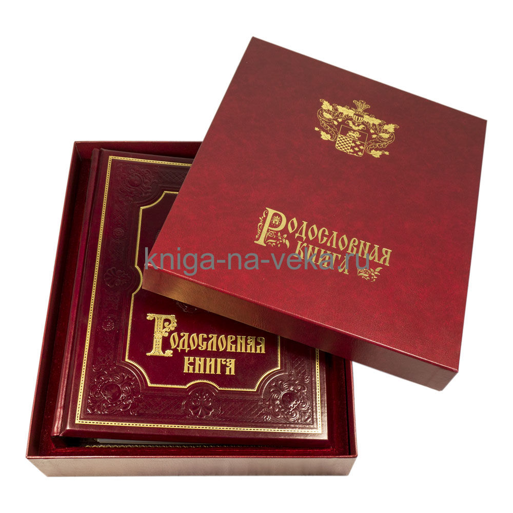 Родословная книга «Ренессанс» (гранат) в подарочном футляре