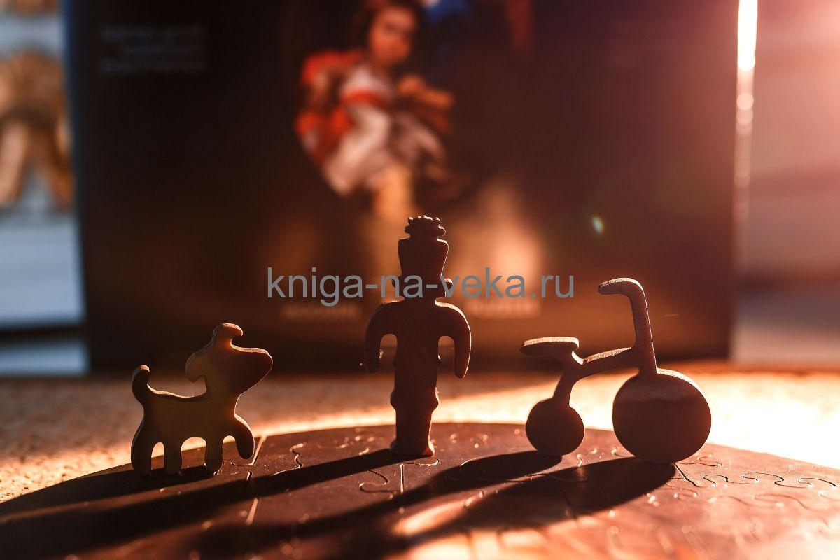 Деревянные пазлы DaVici. Премиум-коллекция. Портрет детей художника Кузи и Маруси.