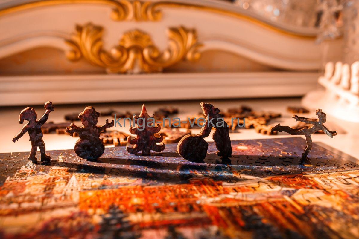 Деревянные пазлы DaVICI. Премиум-коллекция. Волшебница зима.