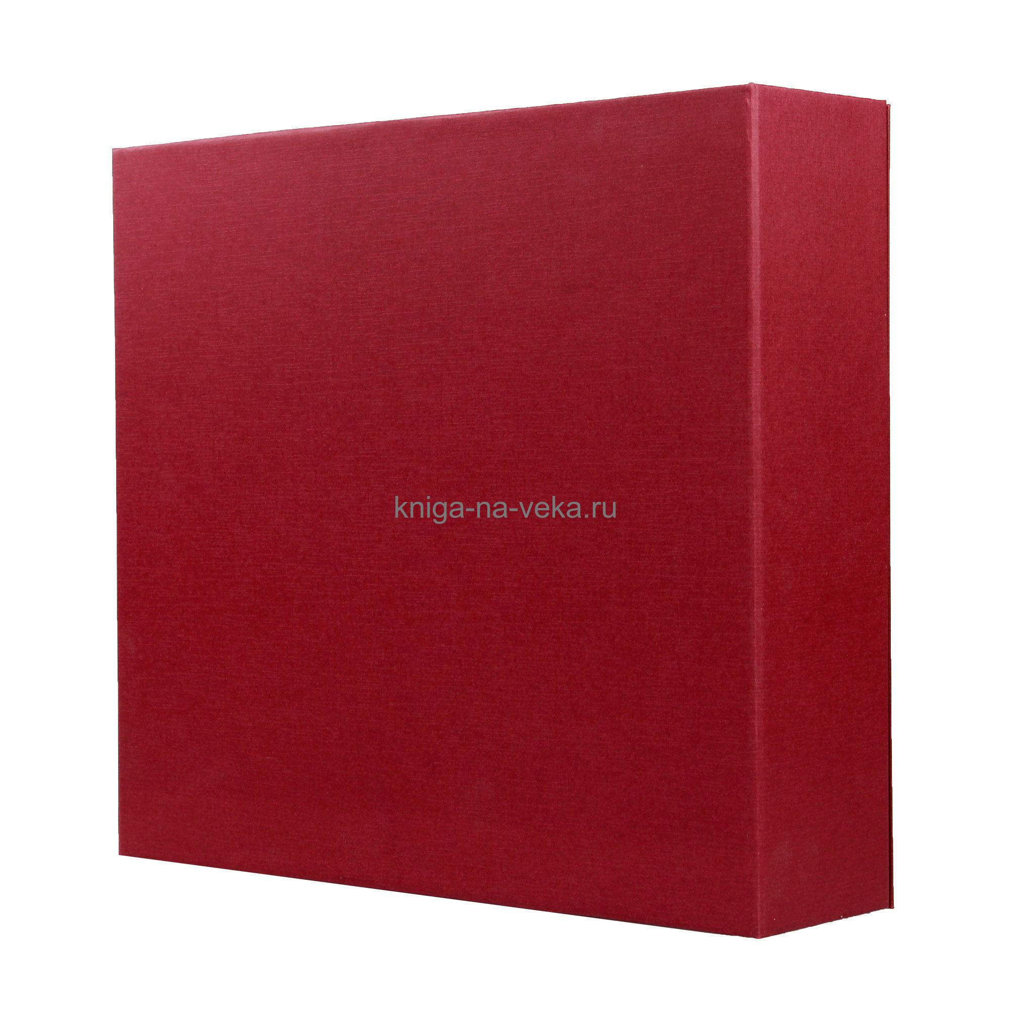Упаковка подарочная для фотоальбома (бордо)