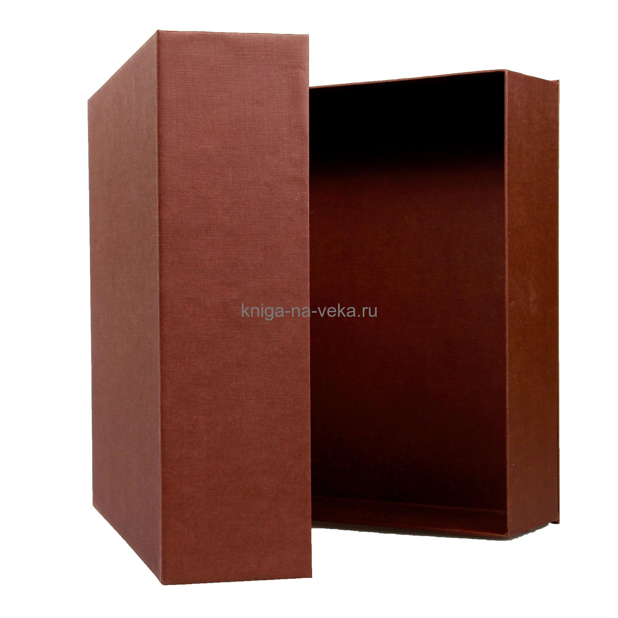 Упаковка подарочная для фотоальбома (коричневая)
